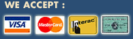 We accept: VISA, MASTEC CARD, DEBIT & AMEX Method of payments